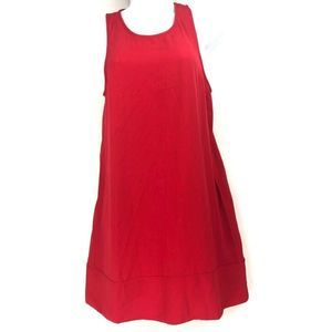 LEITH Racerback Shift Red Dress Micro XS